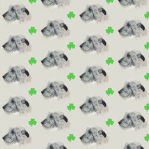 Shamrocks and Irish Wolfhounds