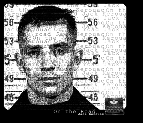 Jack_Kerouac fabric by thedrawingroom on Spoonflower - custom fabric