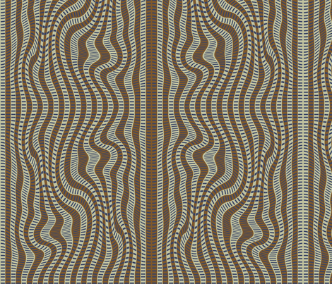 Cream Marks (dark) fabric by david_kent_collections on Spoonflower - custom fabric
