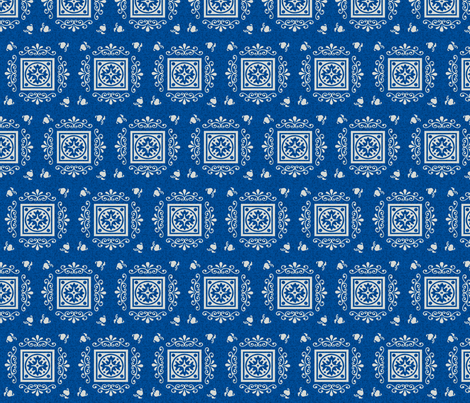Victorian Blue & Grey fabric by kaylaconspiracy on Spoonflower - custom fabric
