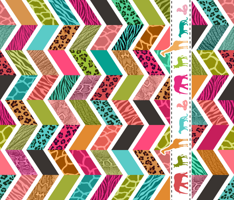 Animal Print Chevron Cheater Quilt - WILD About Zig Zags fabric by dianef on Spoonflower - custom fabric