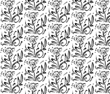 floral drawing fabric by isabella_asratyan on Spoonflower - custom fabric