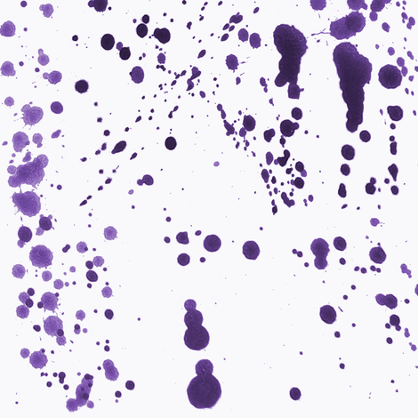 Purple Ink Splatter