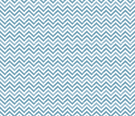 Pastel Blue Chevron fabric by leeandallandesign on Spoonflower - custom fabric