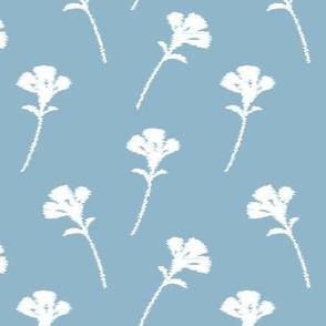 Pastel Blue Scatter Floral