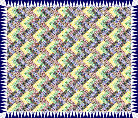 70's Glass Zig Zag Cheater fabric by glanoramay on Spoonflower - custom fabric
