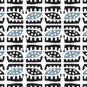 Dotty Spiky Pod (black & blue)