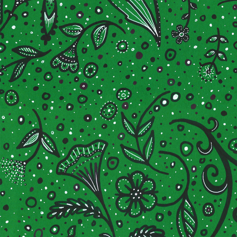 Green Garden fabric by siya on Spoonflower - custom fabric