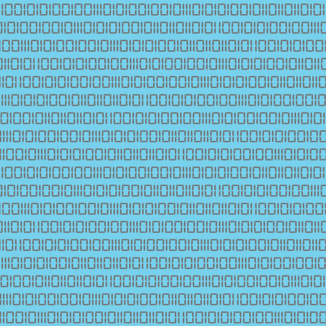 Robotika Binary (Blue) fabric by robyriker on Spoonflower - custom fabric