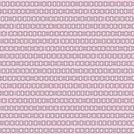 Robotika Binary (Pink) fabric by robyriker on Spoonflower - custom fabric