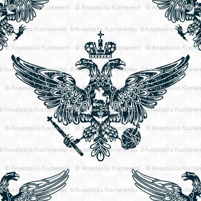 royal eagles seamless pattern