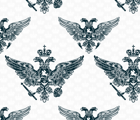 royal eagles seamless pattern fabric by anastasiia-ku on Spoonflower - custom fabric