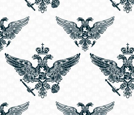 royal eagles seamless pattern fabric by anastasiia-ku on Spoonflower - custom fabric