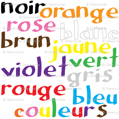 French Colour Words
