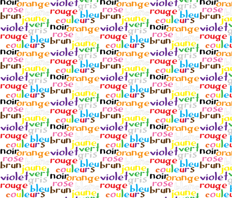 French Colour Words fabric by greennote on Spoonflower - custom fabric