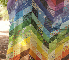 rainbow chevron cheater quilt