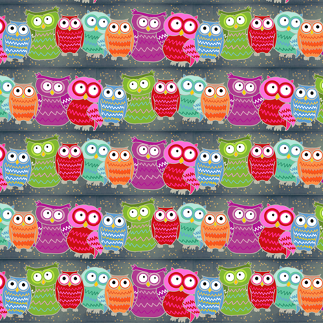 owls_lines fabric by lusyspoon on Spoonflower - custom fabric