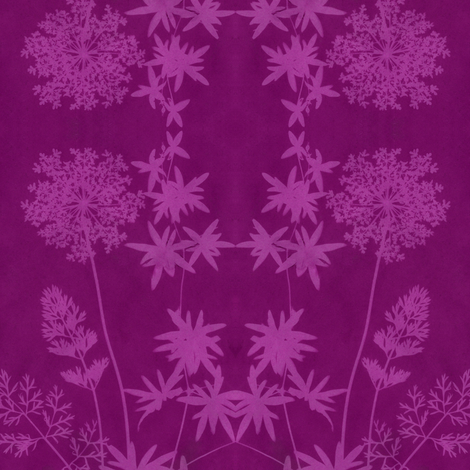 solar print flowers - redviolet fabric by weavingmajor on Spoonflower - custom fabric