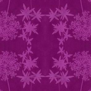 solar print flowers - redviolet