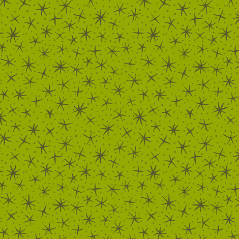 stellate whimsy in lime and olive fabric by weavingmajor on Spoonflower - custom fabric