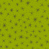 stellate whimsy in lime and olive