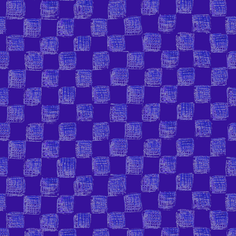 checkerboard in blueberry fabric by weavingmajor on Spoonflower - custom fabric
