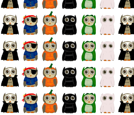 Owlan Halloween Costume Parade fabric by kalliopekat on Spoonflower - custom fabric