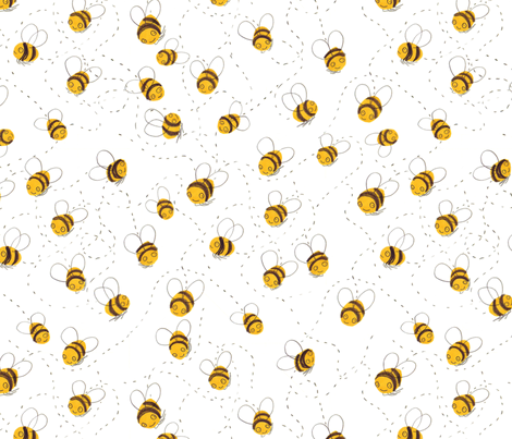 Busy buzzy bumble bees fabric by jo_clark on Spoonflower - custom fabric