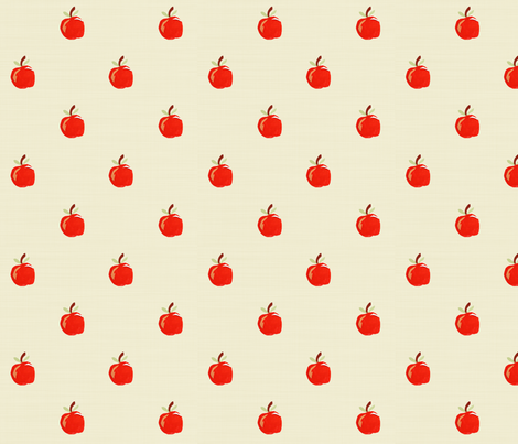 Teacher's Apple fabric by arttreedesigns on Spoonflower - custom fabric