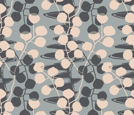 Eucalyptus Meander /00 fabric by elizabeth_hale_design on Spoonflower - custom fabric