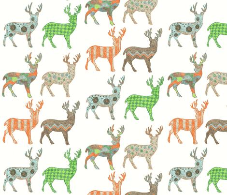 Meadow Deer fabric by kbexquisites on Spoonflower - custom fabric