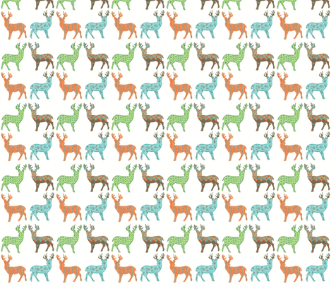 Meadow Deer in Multi  fabric by kbexquisites on Spoonflower - custom fabric