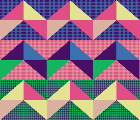 Chevron Quilt fabric by lesliebedell on Spoonflower - custom fabric