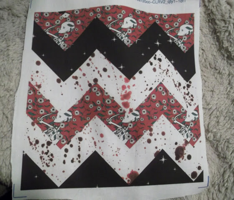 Red Night Chevron Quilt