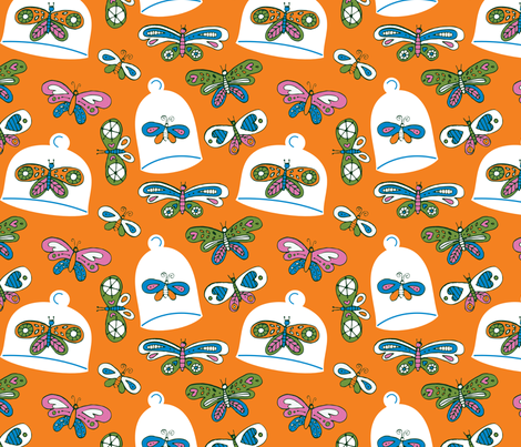 A Colorful Collection - orange fabric by jordan_elise on Spoonflower - custom fabric