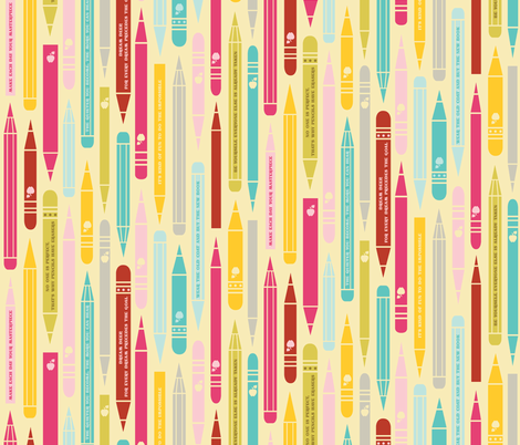 Inspirational Pencils fabric by natasha_k_ on Spoonflower - custom fabric