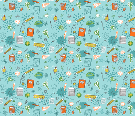 school days fabric by liz-adams on Spoonflower - custom fabric
