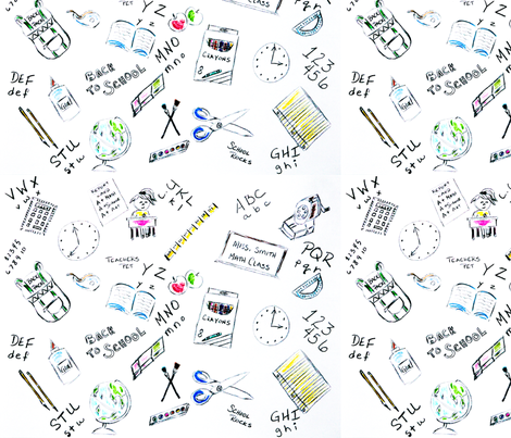 School-Supplies fabric by windancerr13 on Spoonflower - custom fabric