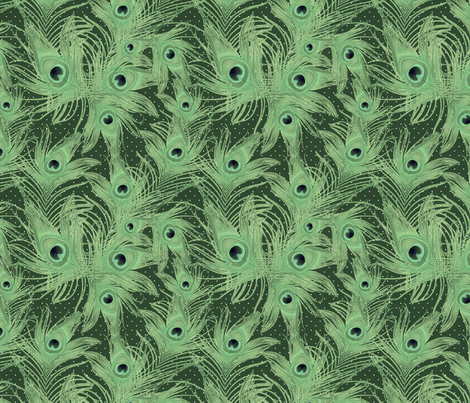 green feather fabric by kociara on Spoonflower - custom fabric