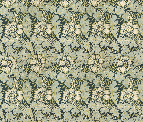 William morris leaves fabric by unseen_gallery_fabrics on Spoonflower - custom fabric