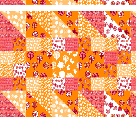 forest_cheater_orange fabric by lusyspoon on Spoonflower - custom fabric