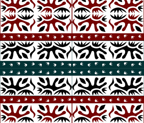 NATIVE ART fabric by bluevelvet on Spoonflower - custom fabric