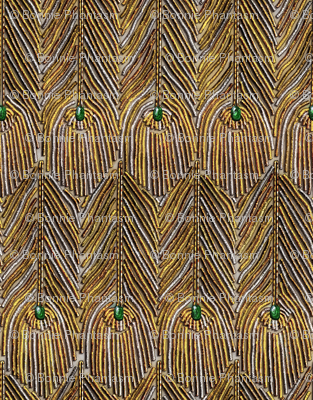Golden Peacock Feathers