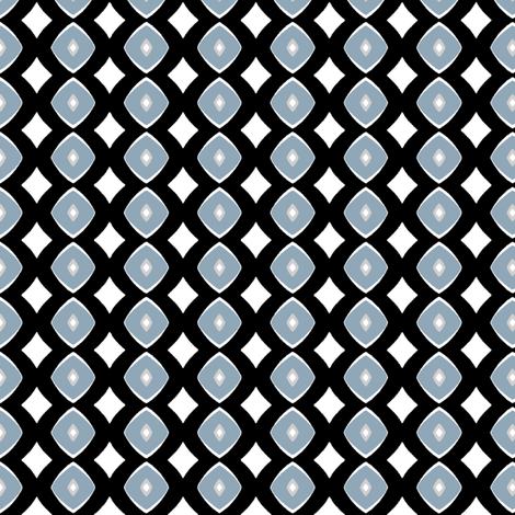 Diamond Dotty (blue, grey & black) fabric by pattyryboltdesigns on Spoonflower - custom fabric