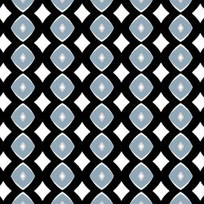 Diamond Dotty (blue, grey & black)