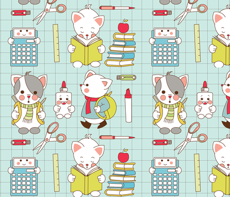 Back to school fabric by theboutiquestudio on Spoonflower - custom fabric