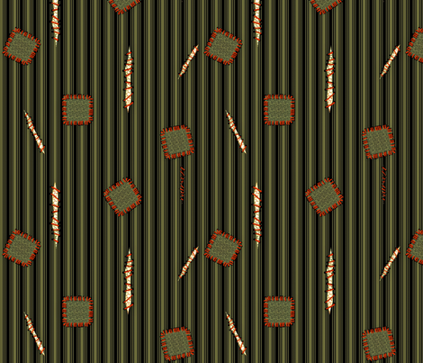 zombie garb - green fabric by glimmericks on Spoonflower - custom fabric