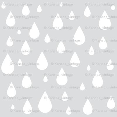 Gray Rain Drops