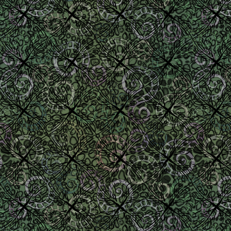 wild diamonds greens fabric by glimmericks on Spoonflower - custom fabric