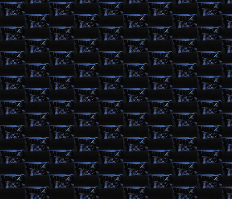 Bluecat fabric by krussimages on Spoonflower - custom fabric